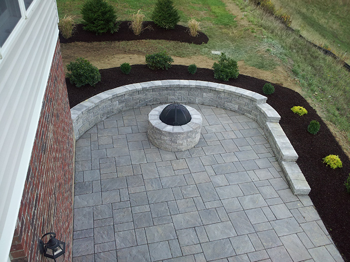 Techo Bloc Patio and Wall