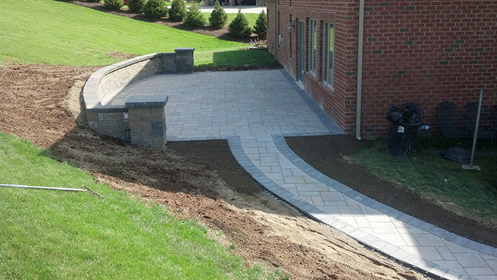 Versa-Lok Wall with Techo Bloc Patio